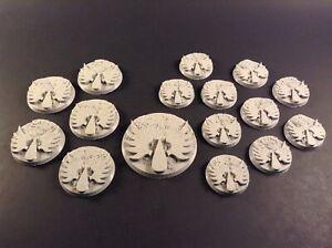 Custom lot 3d printed Blood Angels bases 32mm(10),40mm(5),60mm(1) Warhammer 40k