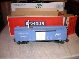 Lionel Postwar Wabash 3424 Operating Brakeman Box Car w/ Box