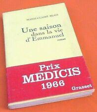 Marie-Claire Blais  Une saison dans la Vie d' Emmanuel  (1966)