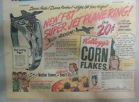 Kellogg's Corn Flakes Cereal Ad: Jet Plane Ring Premium 1948 Size: 7 x 10 inches