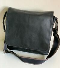 NEW! COACH BLACK HERITAGE WEB LEATHER MAP CROSSBODY SLING MESSENGER BAG $348