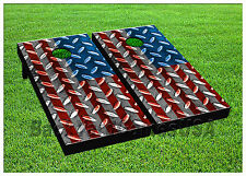 VINYL WRAPS Cornhole Boards DECALS USA Flag Bag Toss Game Stickers 729