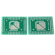 2Pcs QFP/TQFP/FQFP/LQFP 32/44/64/80/100 To DIP Adapter PCB Board Converter