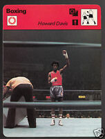 HOWARD DAVIS Boxing Boxer USA Olympic Gold Medal 1978 SPORTSCASTER CARD 28-15