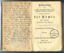 """""""ROMER"""" ERFURT 1788, GEORG ADAM KEYSER, 1ST EDITION"""