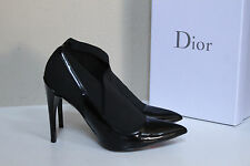 New sz 8.5 / 38.5 Christian Dior Black Leather Pointed toe Pump Heel Shoes