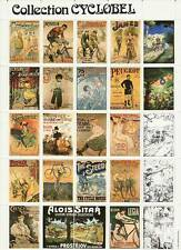 Belgium Cyclobel poster stamp sheet of bicycles, bikes and cycling complete MNH