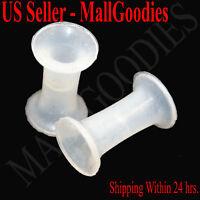 0911 Silicone Squishy Soft Clear 6 Gauge 6G Ear Plugs 4mm