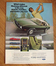 1973 Ford Mustang Ad Hardtop Convertible Sportsroof