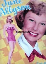 Vintage Uncut 1950 June Allyson Paper Dolls~#1 Reproduction~Nostalgic Set!