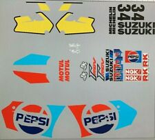 SUZUKI RG250 VJ22 FOR PEPSI BIKE VERSION DECAL KIT