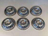 Lot of 6 Vintage Mini Aluminum Metal Pans Molds Bundt Jello Tart Angel Food Tins