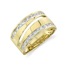 14K Yellow Gold Baguette Diamond Ring Right Hand Cocktail Womens Natural Size 7