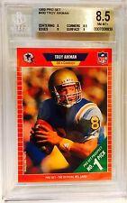 1989 Pro Set Football Troy Aikman 490 RC BGS NM-MT+ 8.5 Dallas Cowboys