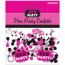 Hen Night Team Bride Table Confetti Sprinkles Party Decorations Pink + Black