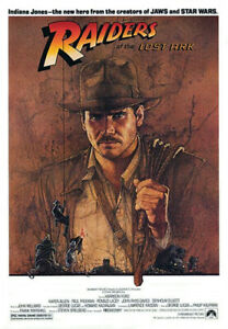 Raiders of the Lost Ark (1981) Movie Poster Advance Teaser, Original, NM, Rolled