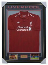 19f394e96 Liverpool Signed 2018 19 Team Jersey Framed Brand New + COA Mo Salah ON  SPECIAL