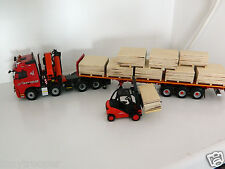 "1:50 Scale Handcrafted Wooden Pallets of Plywood, Full Load, Ideal Code 3, ""New"""