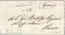 5703 - PONTIFICIO - STORIA POSTALE - BUSTA PREFILATELICA: Affrancata URBINO 1848