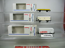 AK570-0,5# 3x Märklin/Marklin H0/AC Güterwagen: 4439 Interfrigo+4471+4481 DB OVP
