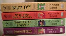 Lot of 4 Queen Bee Cozy Mystery Pb's by Hannah Reed
