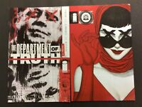 Department of Truth #1 NM A/B Main & Frison Variant Set 2020 Image Tynion 9/30
