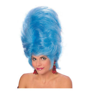 Marge Simpson Blue Beehive 1950s Drag Queen Cartoon Women Costume Wig