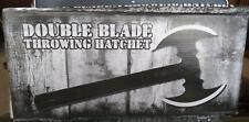 Double blade throwing hatchet
