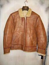 Vintage Heavy B3 Shearling sheepskin leather flying Aviateur Veste Taille S