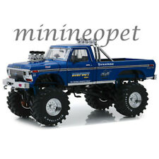 "GREENLIGHT 13537 BIGFOOT #1 MONSTER TRUCK 1974 FORD F-250 1/18 48"" TIRES BLUE"
