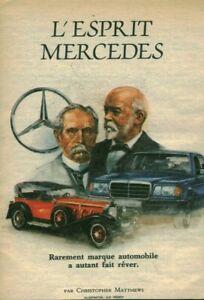 Publicité ancienne automobile l'esprit Mercedes 1952 issue de magazine