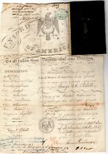 JAMES BUCHANAN President unusual signed document with attached passport 1847