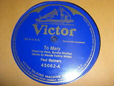 PAUL REIMERS VICTOR 78 RPM RECORD 45062 TO MARY / PHYLLIS UND DIE MUTTER