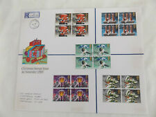 GB EXTRA LARGE REGISTERED POST COVER FDC 1983 CHRISTMAS BLOCKS OF STAMPS