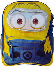 "MINIONS 3D Small Backpack 12"" Toddler Boy backpack Licensed"
