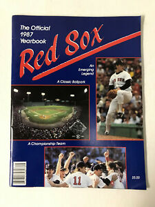 1987 Boston Red Sox Yearbook: Roger Clemens - Fenway Park - Championship Recap-M