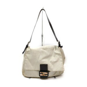 Fendi Shoulder Bag  Whites Canvas 1728570