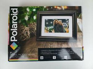 "Polaroid 7"" Digital Photo Picture Frame LED Display - Black Frame + Mat PDF-750W"