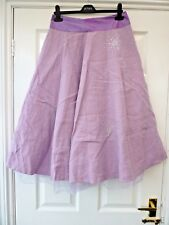 Ladies Size 8 10 Purple Netted Sequin Flippy Dancing Party Occasion Maxi Skirt