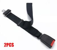 "2Pcs Adjustable Car Seat Seatbelt Extender Extension Black 7/8"" Buckle Universal"