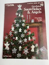 Leisure Arts Crocheted Snowflakes & Angels Leaflet 255