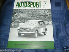 MINI COOPER S PAT MOSS ANN RILEY TULIP RALLY WIN AUSTIN HEALEY 3000 TONY FISHER