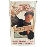 Back To School VHS Movie Comedy Sports Romance Rodney Dangerfield Triple Lindy