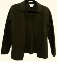 Talbots Loden Green Wool/Cashmere Blend Cardigan Sweater Sz L
