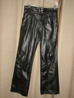 Vintage BROOKS 100% leather pants black mens 32 (measure 30 x 32) motorcycle