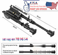 "US Stock Bipod 6/9""Adjustable Spring Harris Metal Sling Swivel 4 Rifle Hunting"
