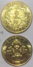 BHUTAN 25 CHHERTUM  Double Fishes 22mm BRONZE Coin UNC 1PCS