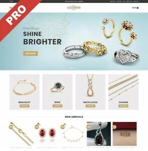 Fully Stocked Premium GOLD JEWELLERY Dropshipping e-commerce Website Business