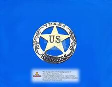 "Western Equestrian Tack Texas Rangers Ranger Silver/Gold Star Conchos 6 1-1/2"""