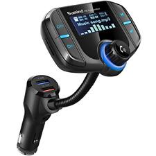 Upgraded Version Car Bluetooth FM Transmitter, Wireless Radio Adapter Hands-free